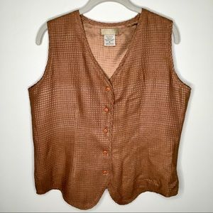 The Territory Ahead Checkered Weave Silk Vest